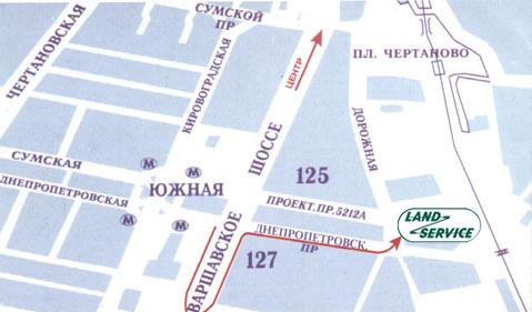 Ориентир: Варшавское шоссе, д. 127 - при движении в центр - поворот направо после д. 127 по Варшавскому шоссе...